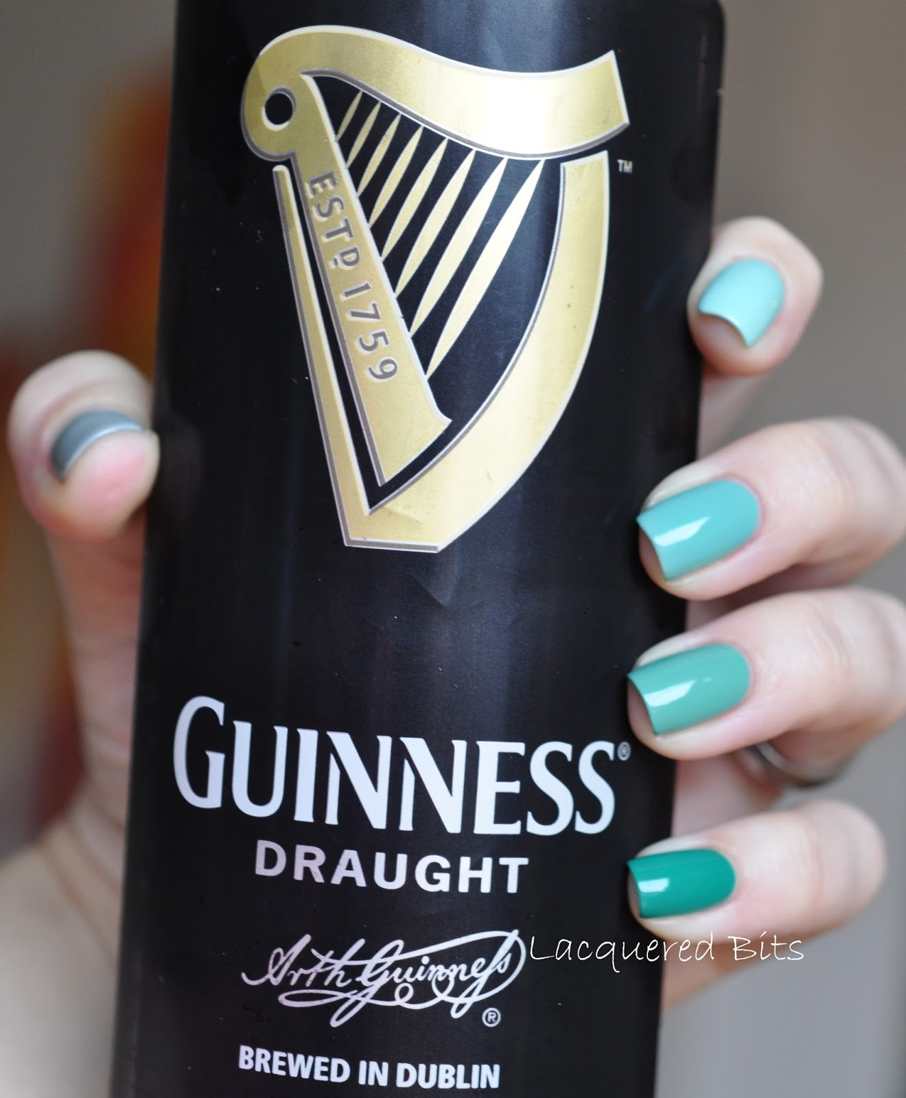St. Patrick's Day Ombre Nails