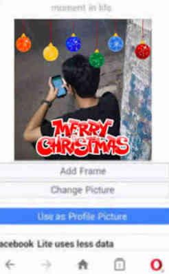 Cara mengedit Foto Profil Natal bingkai Merry Christmas