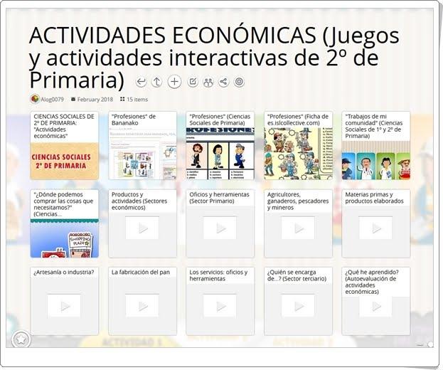 """""""15 Juegos y actividades interactivas sobre las ACTIVIDADES ECONÓMICAS en 2º de Primaria"""""""