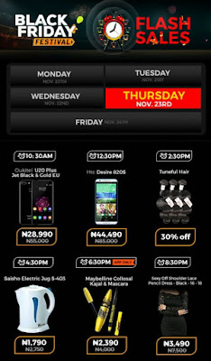 Jumia Black Friday Festival Day 11 Deals 23nd November 2017