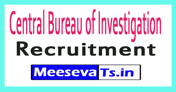 Central Bureau of Investigation CBI Recruitment