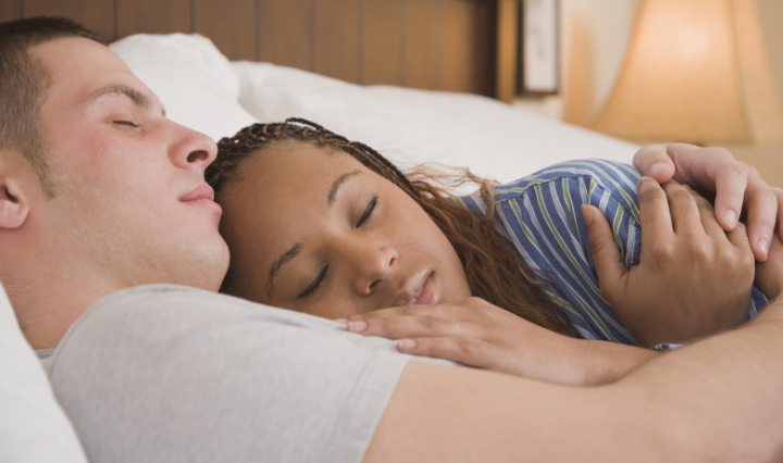 married couples sleep naked together