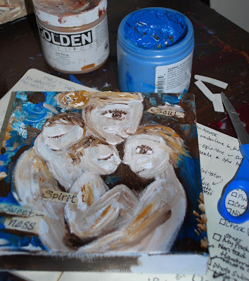 Sneak Peek at Spirit, Soul & Sweetness ~ Adding the Written Word to Paintings ~ Tomorrow Night's Event
