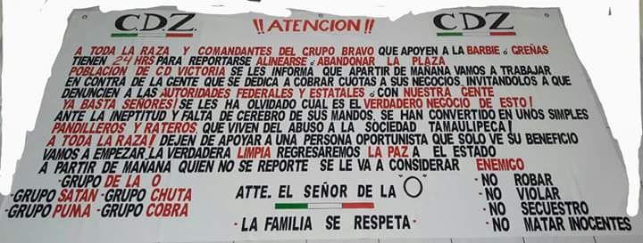 """El CDZ amenaza con iniciar una """"limpia"""" contra Los Zetas del Grupo Bravo en Tamaulipas"""