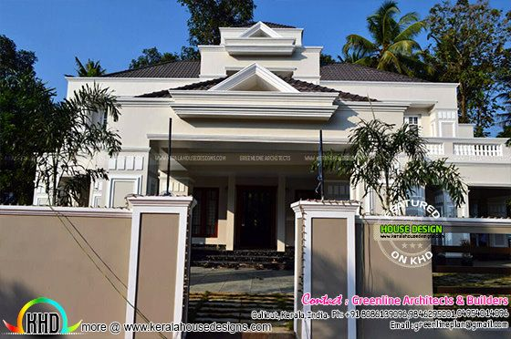 Finished Colonial home in Kerala