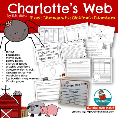MrsQuimbyReads, Children's Literature, Charlotte's Web, Teaching with Books