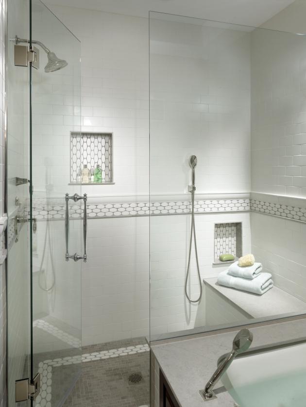To da loos: 10 shower wall shampoo niche style ideas