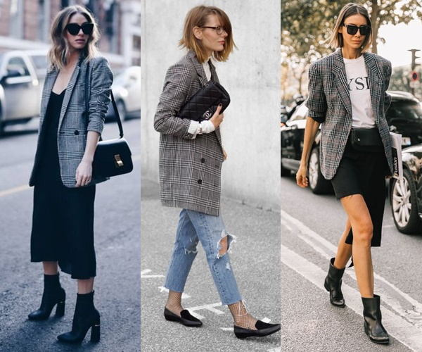 #ONTREND : CHECKED BLAZER Falling for A