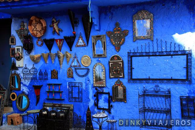 Tienda de ofebrería en Chaouen