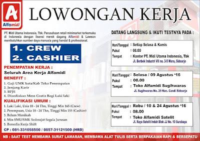 Lowongan Kerja Alfamidi  Surabaya Terbaru