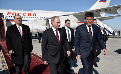 Vladimir Putin in Bishkek.
