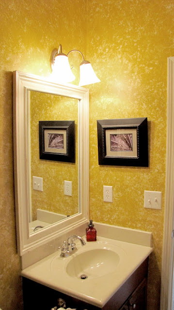 Bathroom Reveal With Framed Mirror Everyday A La Mode