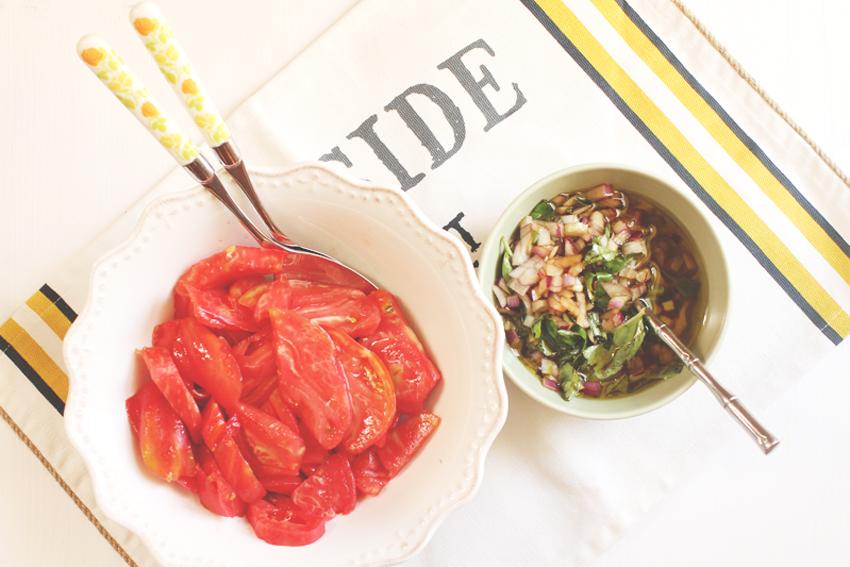 Moja magiczna włoska sałatka z pomidorów