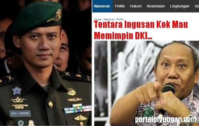 "JAWABAN Untuk Ikrar Nusa Bhakti ""Tentara Ingusan Kok Mau Memimpin DKI..."""
