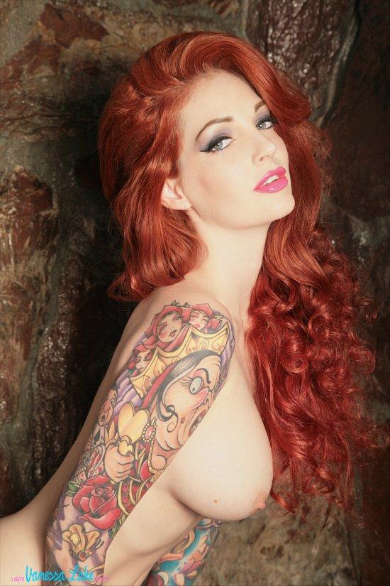 Vanessa Lake deviantart fotografia mulheres modelo pin-up glamour ruiva loira sensual provocante nudez vintage