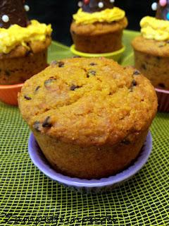 Muffin alla zucca e gocce di cioccolato - Dolci con la zucca