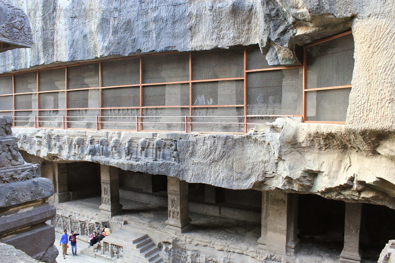 Multi storeyed excavations done on the parent rock mass