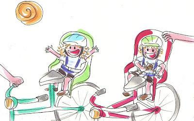 La aventura de Tina y Leo montando en bicicleta