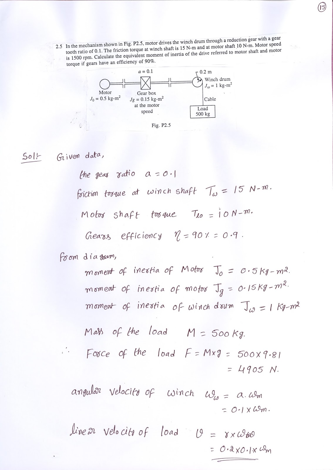PROBLEMS ON EQUIVALENT VALUES OF DRIVE PARAMETERS   ELECTRICAL DRIVES