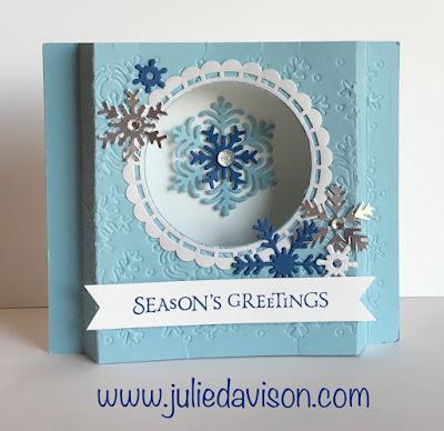 Stampin' Up! Beautiful Blizzard Diorama Card ~ 2018 Holiday Catalog ~ VIDEO Tutorial + Bonus Project Ideas ~ www.juliedavison.com