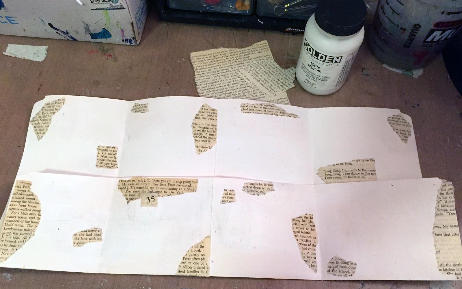 StencilGirl Talk Gwens Gems File Folder Mini Art Journal