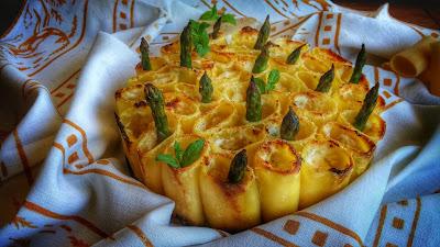 paccheri al forno con formaggi e asparagi