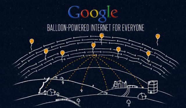 Balon Internet Google Bakal Mengangkasa di langit Indonesia
