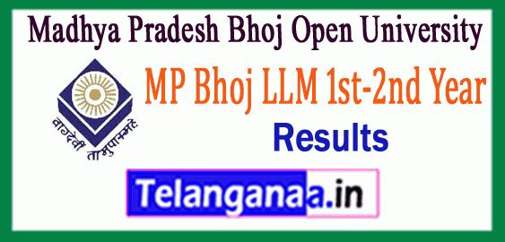 Madhya Pradesh Bhoj Open University LLM 1st 2nd Year Result