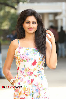 Actress Shamili Stills in Floral Short Dress at Sree Ramaraksha Song Launch 0044