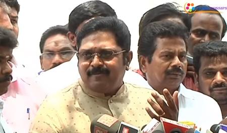 TTV Dhinakaran press meet