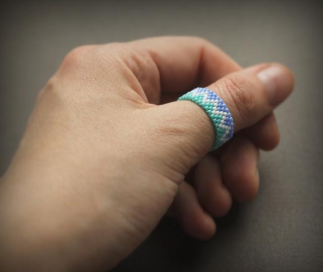 купить жнское кольцо на большой палец украшения из бисера онлайн