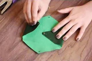 Cara Membuat Aksesoris Wanita, Dompet Amplop Kulit 4