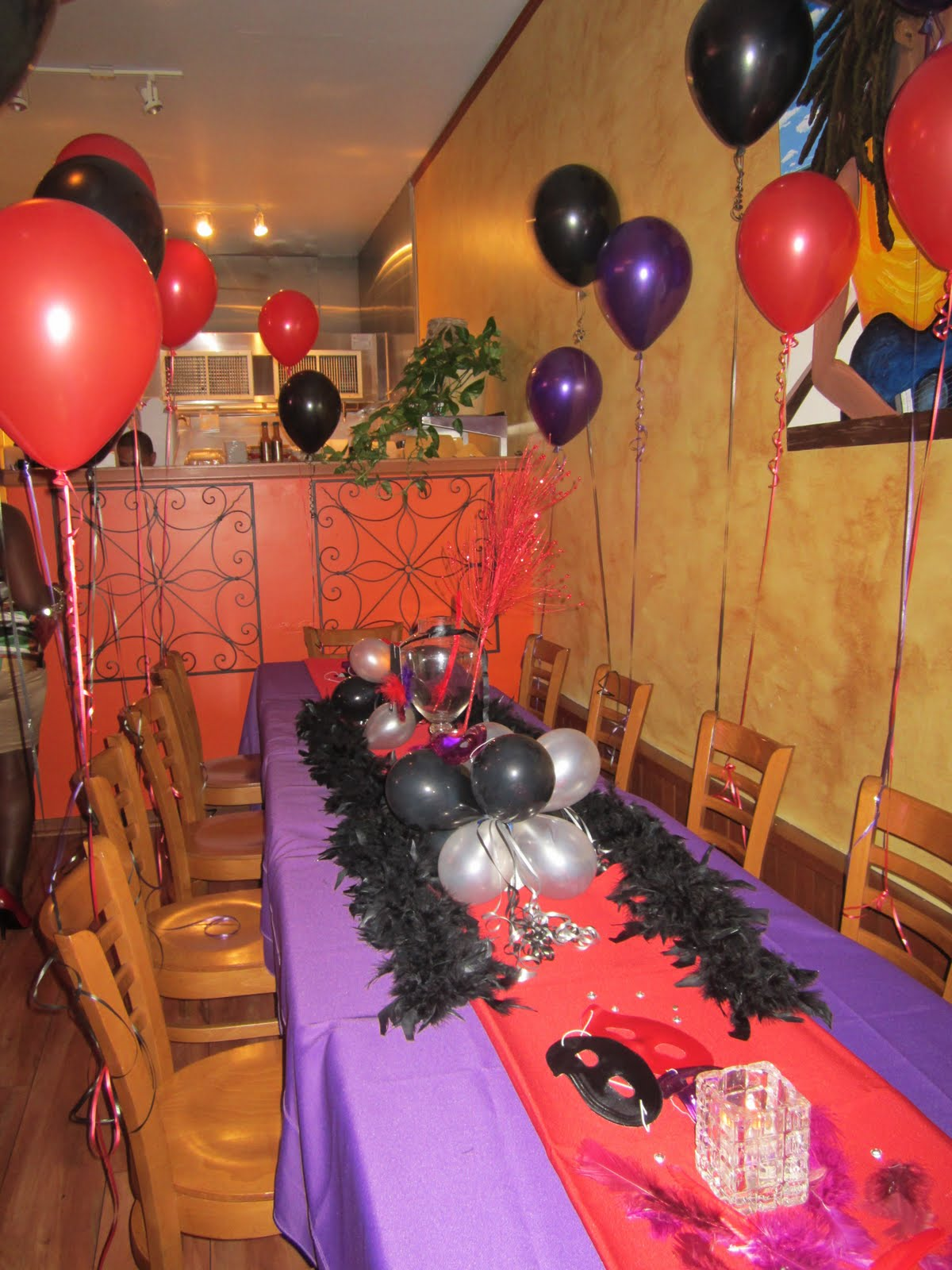 The Blog How To Decorate A Birthday Dinner Red Purple Black Theme