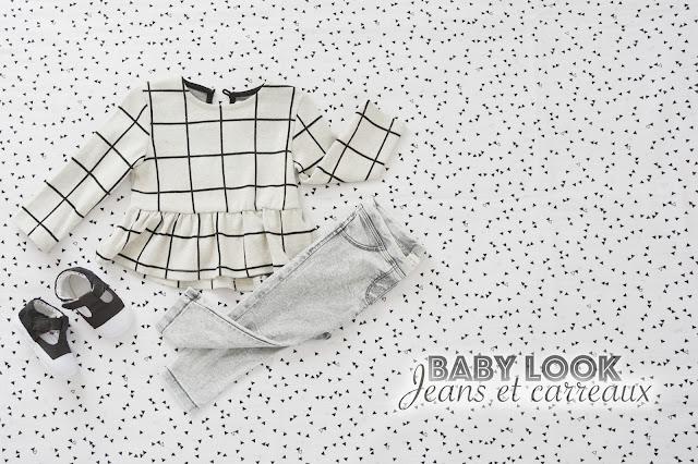 Baby Look - Jeans et carreaux