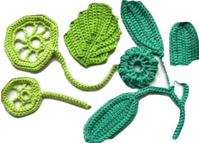 Hojas de crochet paso a paso 2 tutorial