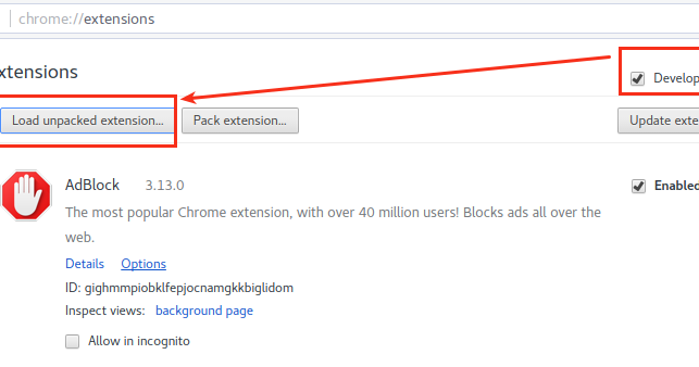 Force install google chrome extension
