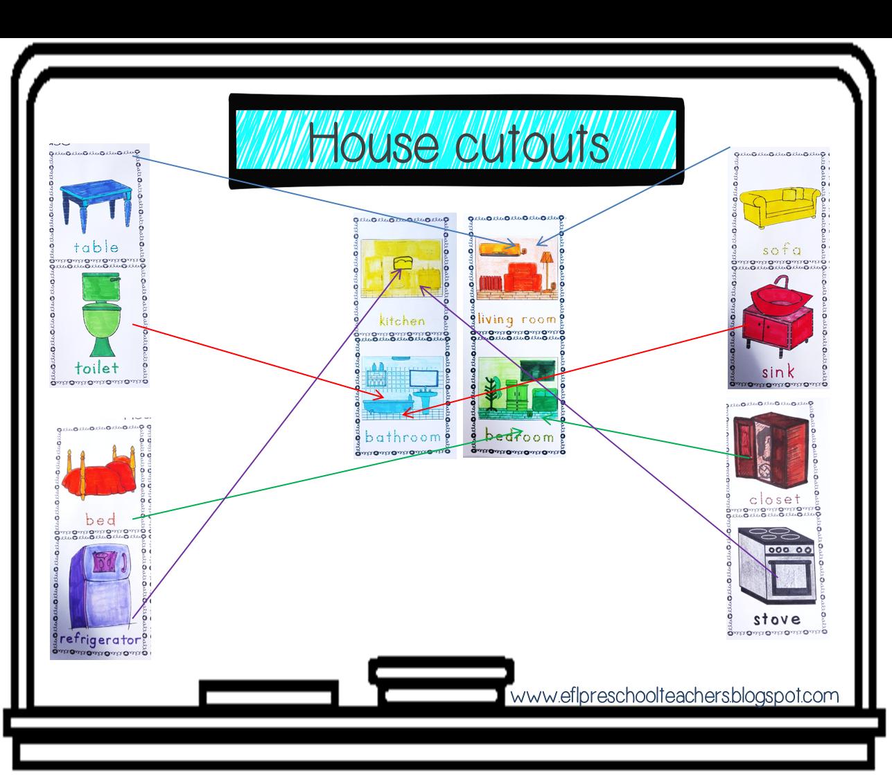 Esl Efl Preschool Teachers House Worksheets For The Preschool Ell