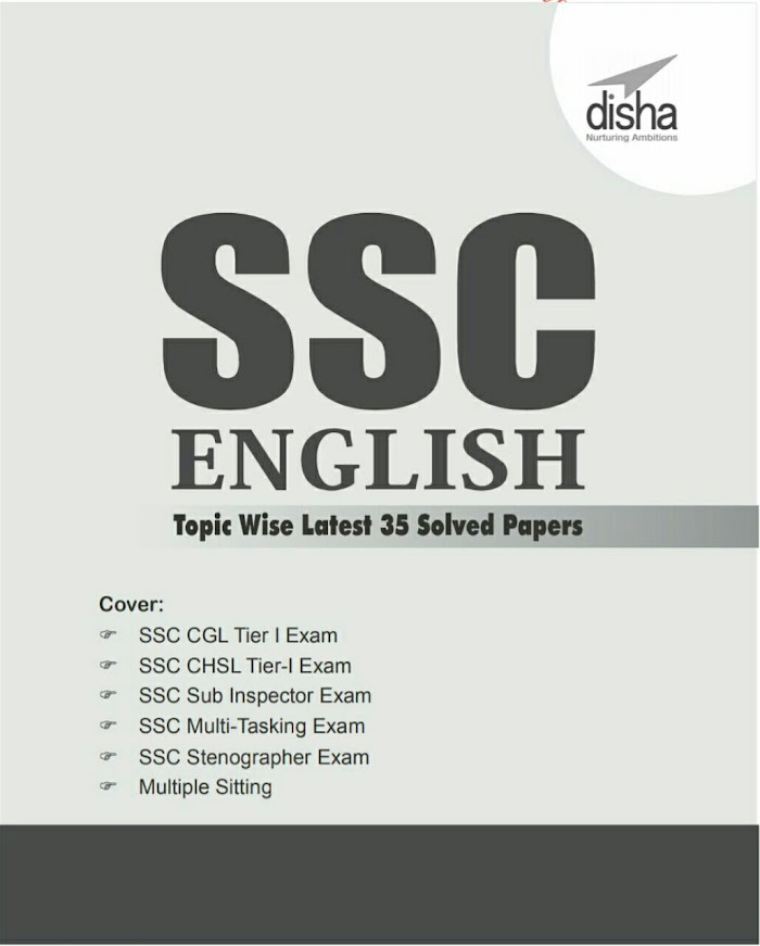 Disha's SSC ENGLISH Topicwise Latest 35 Solved Papers E-Book PDF Download