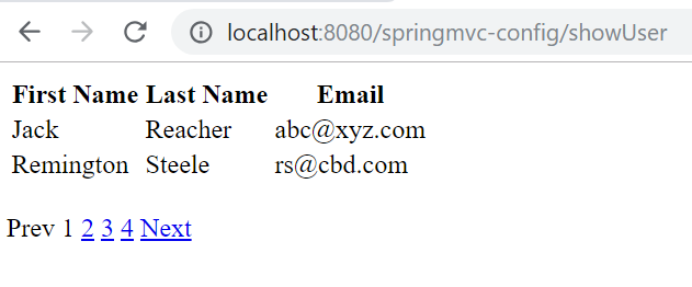 Spring MVC Pagination Example Using PagedListHolder | Tech