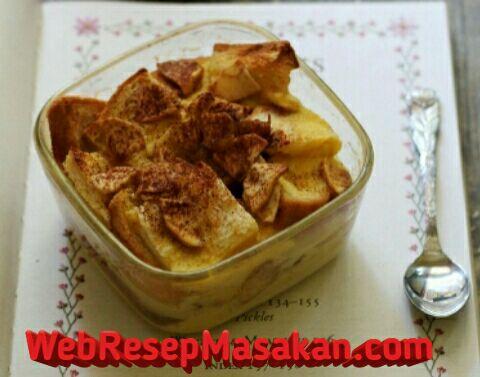 Apple Bread Pudding, Resep apple bread pudding,
