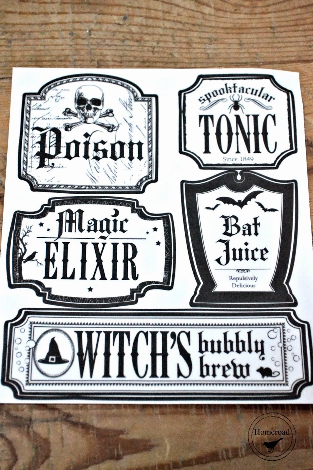 Halloween-elixir-bottles www.homeroad.net