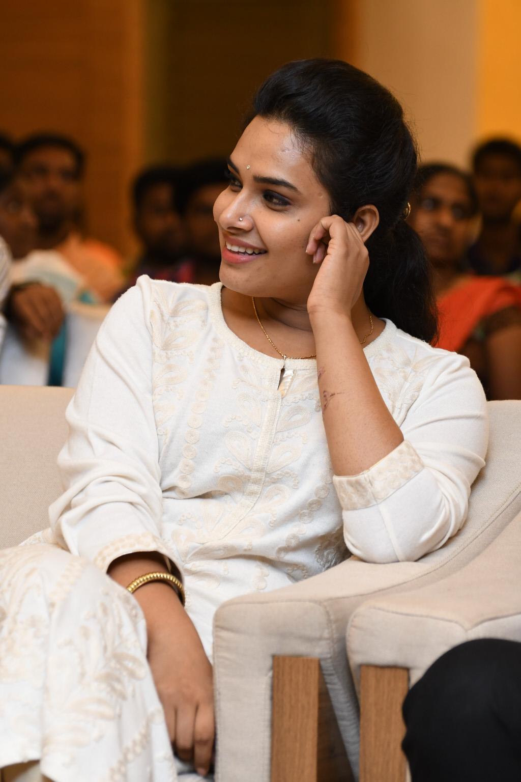Tv Actress Hari Teja Hot Smiling Teeth Face Photos