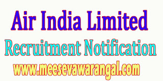 Aisel (Air India Limited) Recruitment Notification
