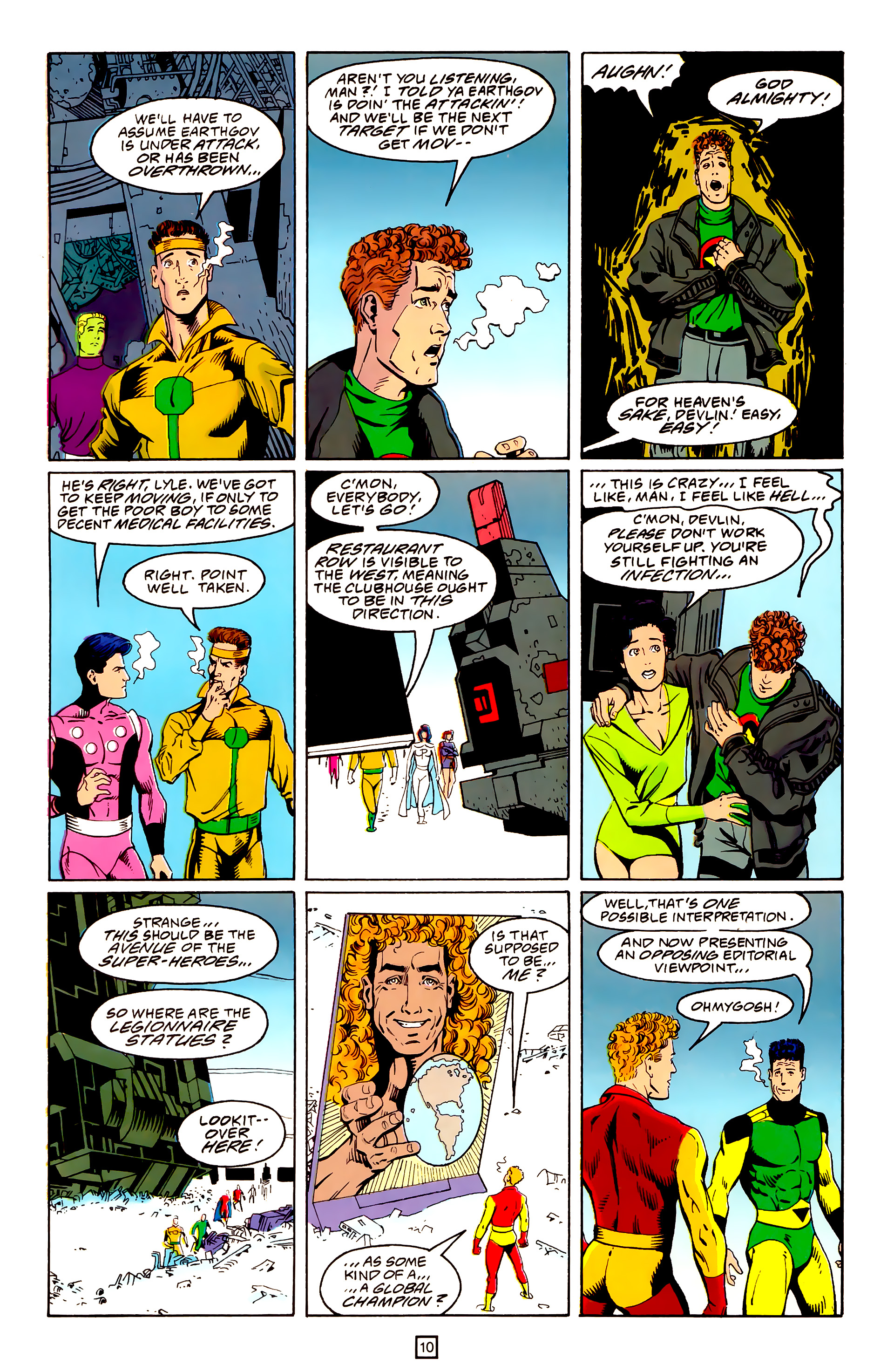 Legion of Super-Heroes (1989) 25 Page 10