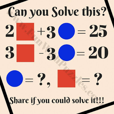 Math Equation Puzzle With Geometric Shapes