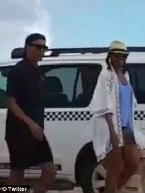 8f137eabdc5 Barack and Michelle Obama who are currently enjoying a tropical vacation