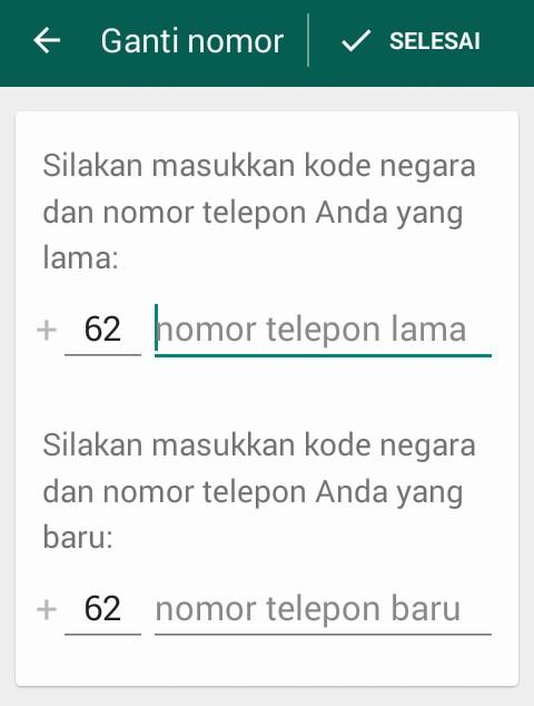Cara Mengganti Sementara Nomor WhatsApp.