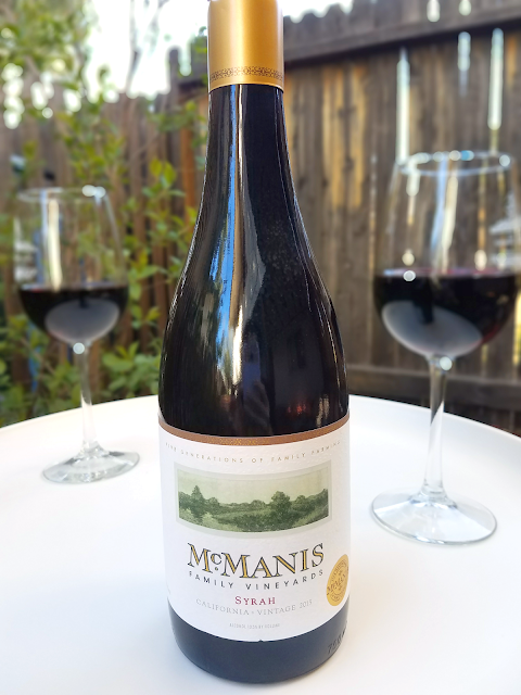 The McManis Syrah is a great wine at a bargain price! It has earned high ratings and a spot on the Wine Enthusiast 100 Best Buys list year after year, and it only costs $10 a bottle!