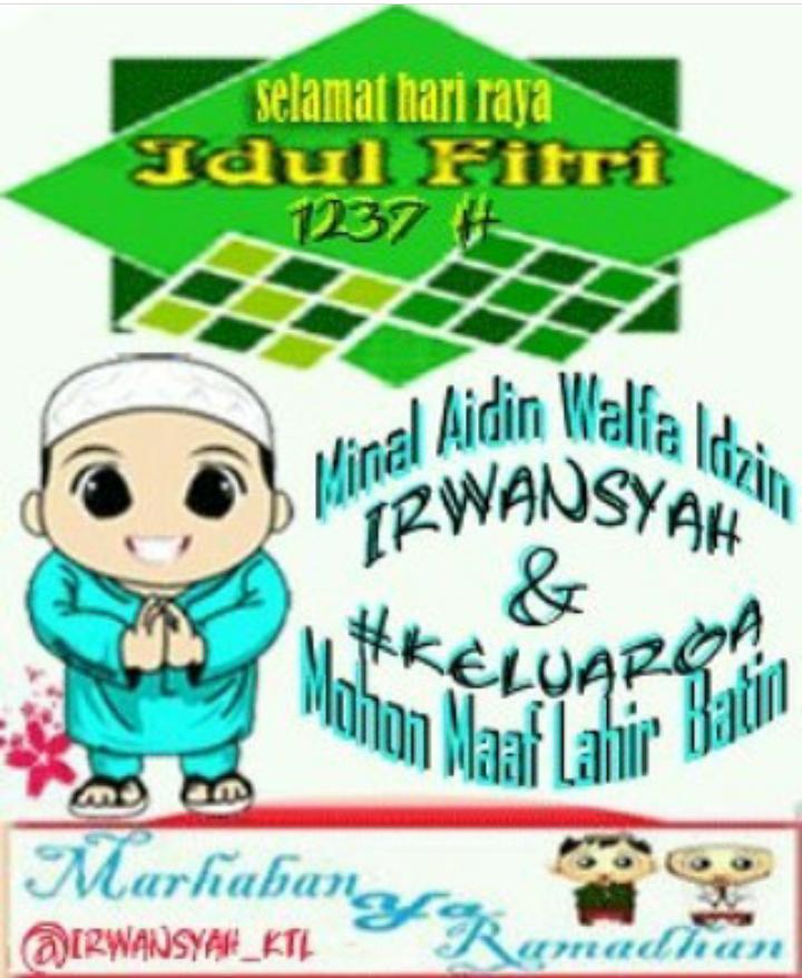 Mentahan Poster Ucapan Hari Raya Idul Fitri
