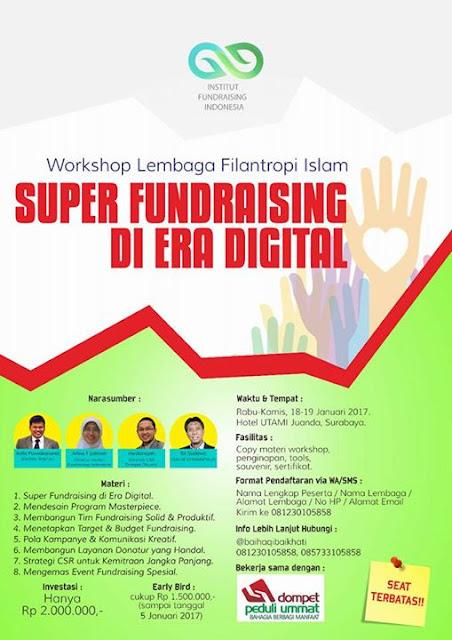 Workshop Lembaga Filantropi Islam : Super Fundrising di Era Digital